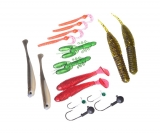 Sada FLAGMAN SPINNING LURE SET Worm & Minnow