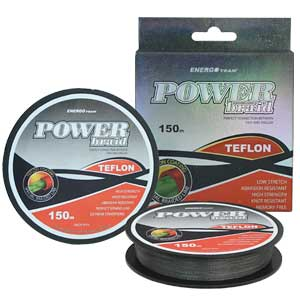 Šnúra Energoteam Power Braid Teflon sivá 150m 0,08mm 7kg