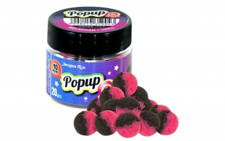 Boilies Benzar Mix Bicolor Pop-up Jahoda-Med 10mm