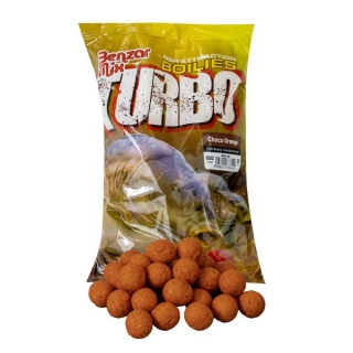 Boilies Benzár Mix Turbo Boilie Jahoda 15 mm 800g