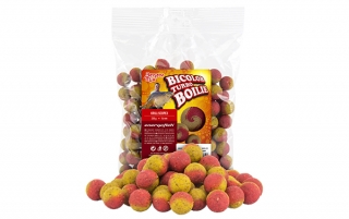 Boilies BENZAR MIX Turbo Bicolor rak-jahoda 250g