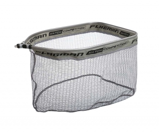 Podberáková hlava FLAGMAN LANDING NET HEAD GREY RUBBER HEAD 40x50cm RECTANGULAR