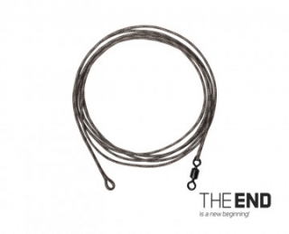 Nadväzec DELPHIN THE END Leadcore + swivel / 3ks 1m