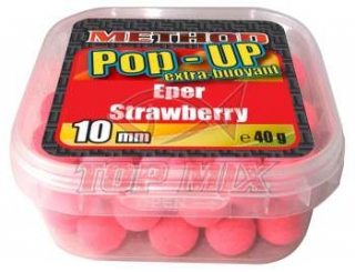 Boilies Top Mix Method Pop-Up boilie Jahoda 10mm 40g