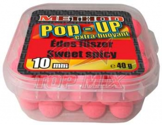 Boilies Top Mix Method Pop-Up boilie Sladké korenie 10mm 40g